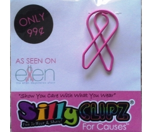 Pink Ribbon - SillyClipz for Causes